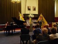Frankie De Kuyffer op trompet, begeleid door Marjolein Vandersickel op piano